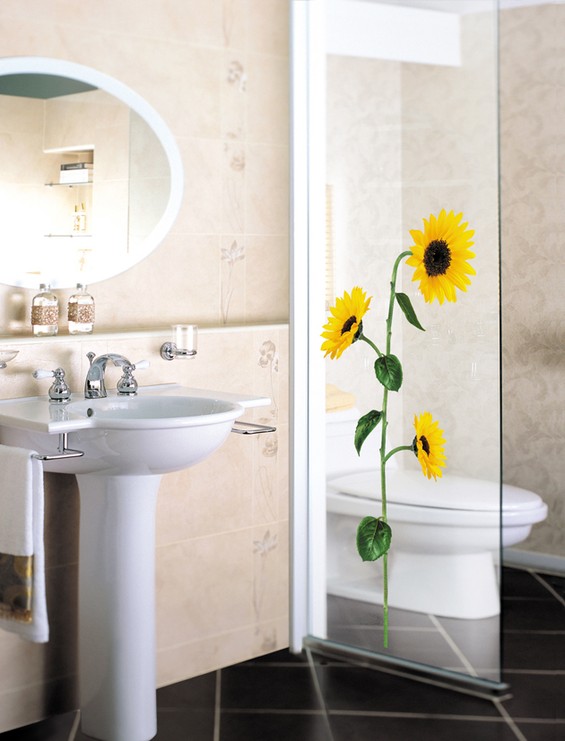 sunflower-flower-2 Amazing and Catchy Wall Stickers for Home Decoration