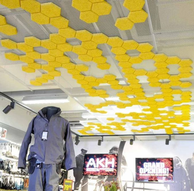 suspended-ceiling-tile-made-by-recycled-materials- Awesome and Dazzling Suspended Ceiling Decorations