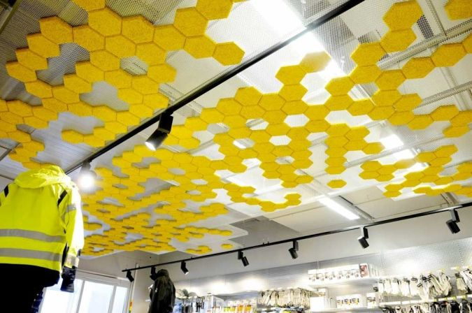 suspended-ceiling-tile-made-by-recycled-materials Awesome and Dazzling Suspended Ceiling Decorations