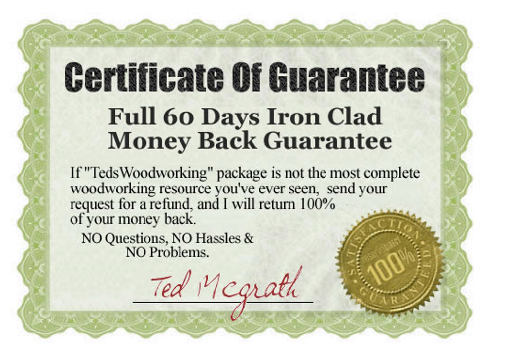 ted-woodworking-plans-guarantee How to Build Woodworking Projects Quickly & Easily on Your Own?