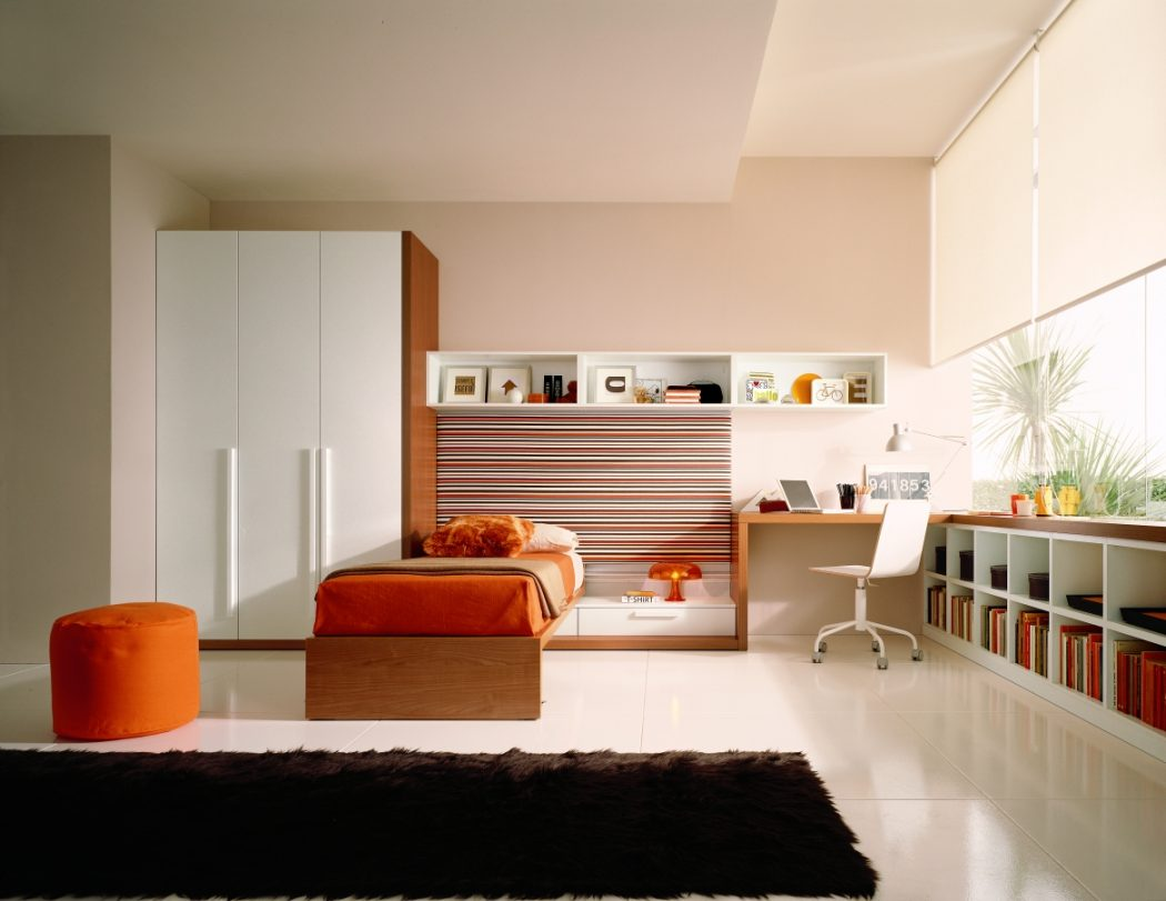 teen_room_zalf Fabulous Orange Bedroom Decorating Ideas and Designs