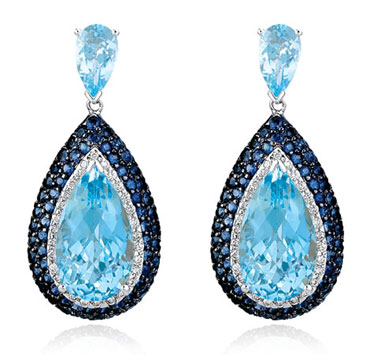 topaz-diamond-earrings How To Use Earrings With Straight Hair, Tied or with Veil