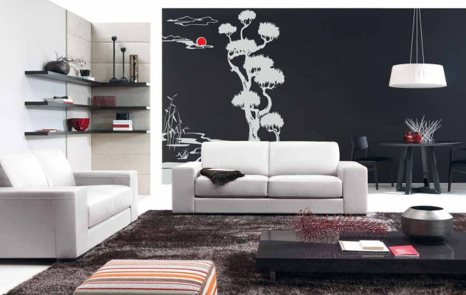 tree-living-room-wall-stickers Amazing and Catchy Wall Stickers for Home Decoration
