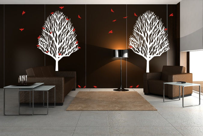 trees-birds-wall-decals Amazing and Catchy Wall Stickers for Home Decoration