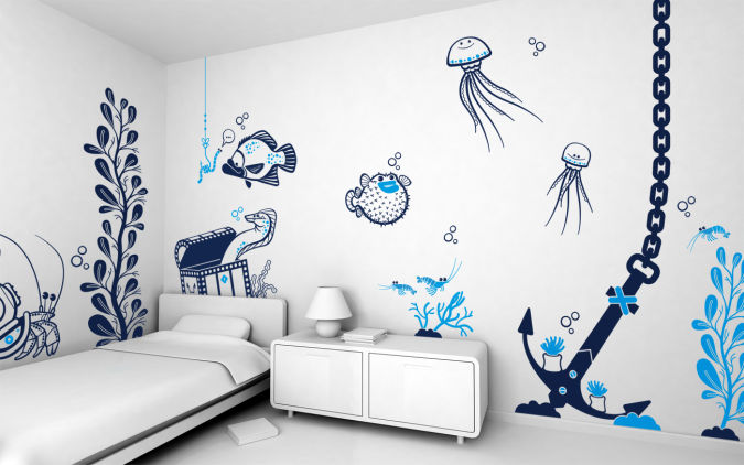 wall-sticker-decor-10 Amazing and Catchy Wall Stickers for Home Decoration