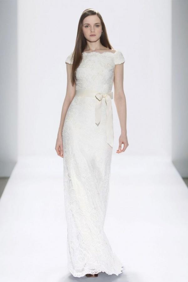 wedding-dress-tadashi-shoji-bridal-gowns-cap-sleeves-lace__full 70 Breathtaking Wedding Dresses to Look like a real princess