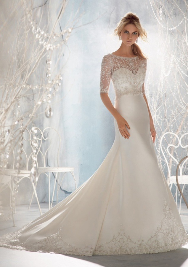wedding-dresses-mori-lee-2013-style-1962-sheer-beading-long-sleeve 70 Breathtaking Wedding Dresses to Look like a real princess