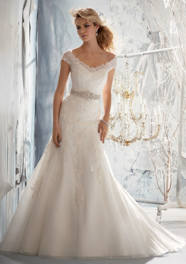 wedding-dresses-mori-lee-fall-2013-style-1960-a 70 Breathtaking Wedding Dresses to Look like a real princess