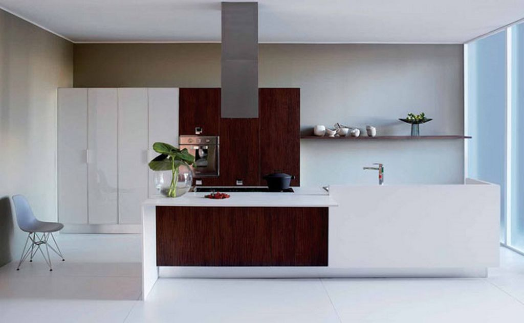 white-and-brown-modern-minimalist-kitchen-concept Awesome German Kitchen Designs