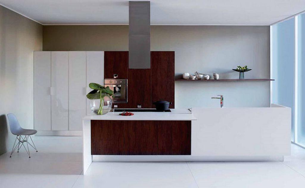 white and brown modern minimalist kitchen concept