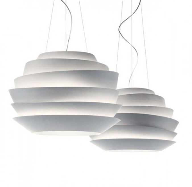 white-ceiling-lamp Awesome and Dazzling Suspended Ceiling Decorations