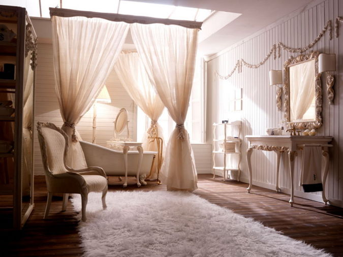 white-luxury-bathroom 20+ Awesome Images for the Latest Models of Curtains