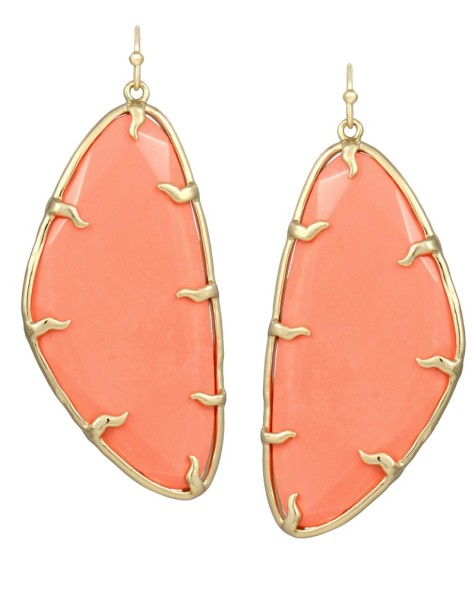 willow-statement-earrings-orange-coral_1-475x593 How To Use Earrings With Straight Hair, Tied or with Veil