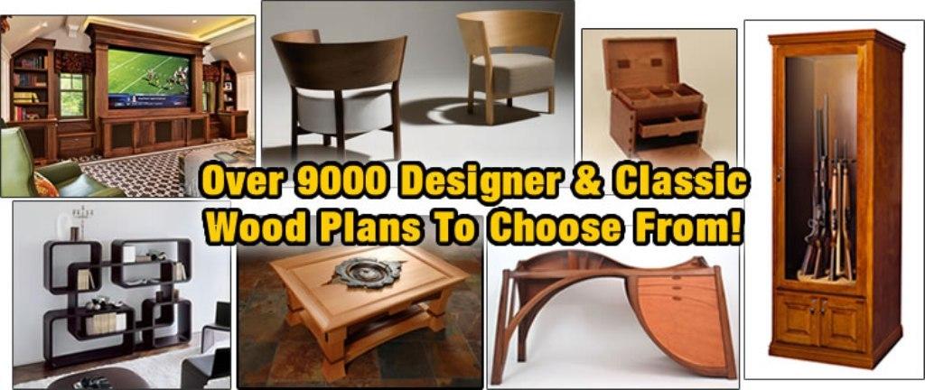 woodworking-plans-designer 9000 Inspiring Furniture and Craft Plans