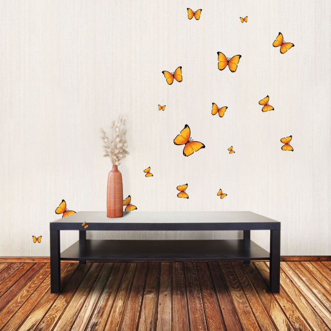 yellow-butterfly-1 Amazing and Catchy Wall Stickers for Home Decoration