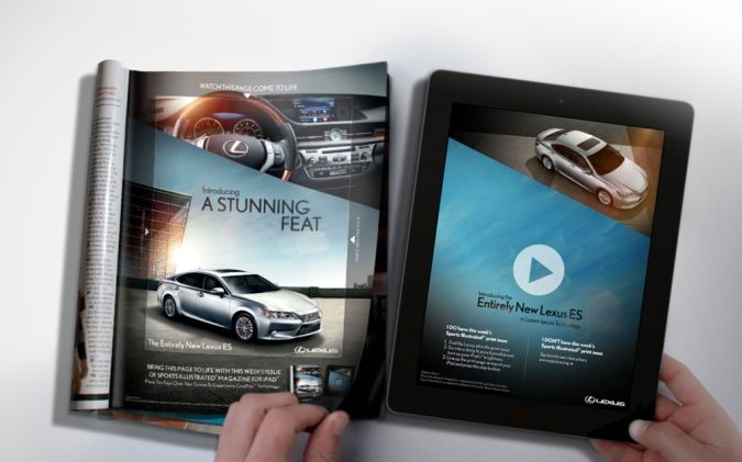 2013-Lexus-ES-CinePrint-image-1 Top 10 Most Interactive Car Print Ads