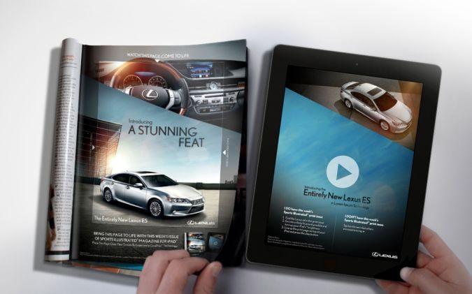 2013-Lexus-ES-CinePrint-image-1 Top 10 Most Interactive Car Print Ads