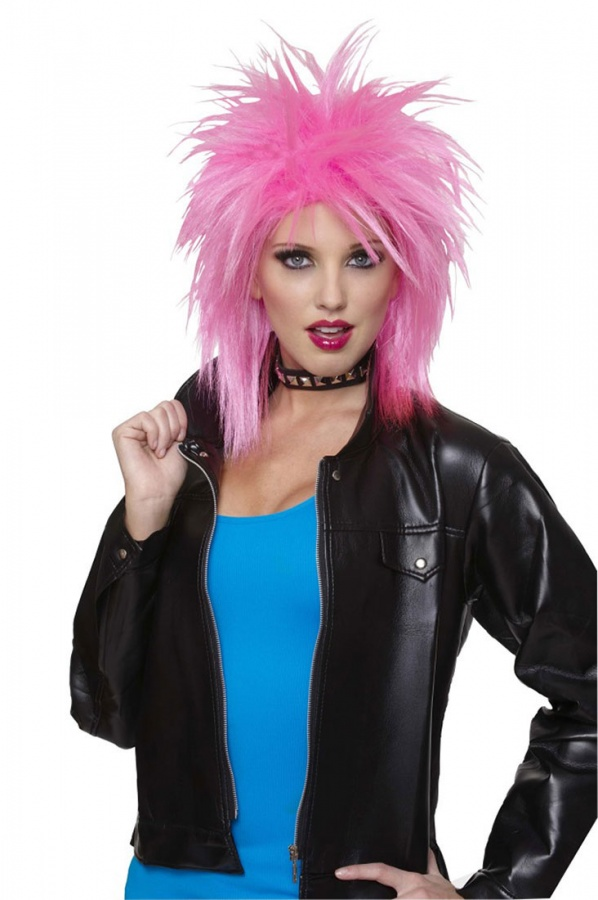 21050-10-Hot-Pink-Spiky-Wig-large Top 25 Weird Hairstyles For Men And Women