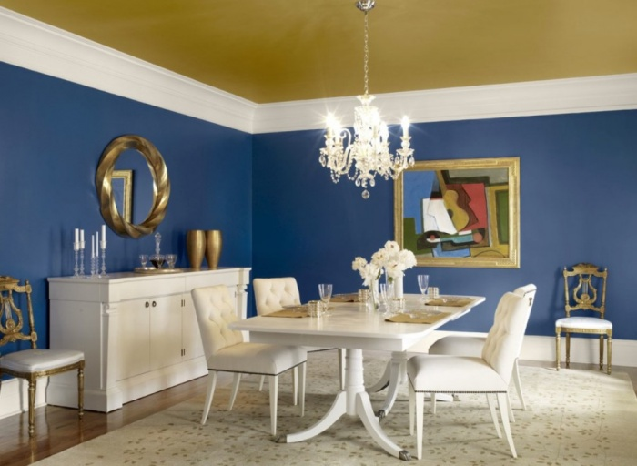 Antique Blue Dining Room Painted Ceiling What Are the Latest Home Decor Trends for 2014?