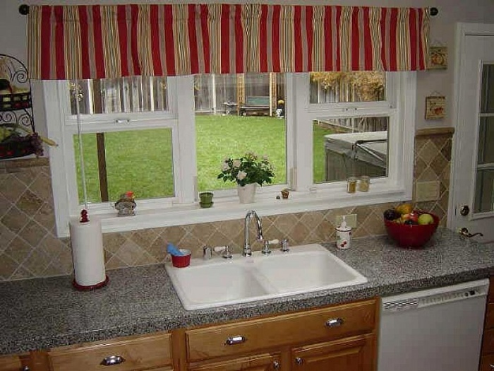 Antique-Kitchen-Window-Curtains-Ideas Kitchen Window's Curtain For Privacy And Decoration