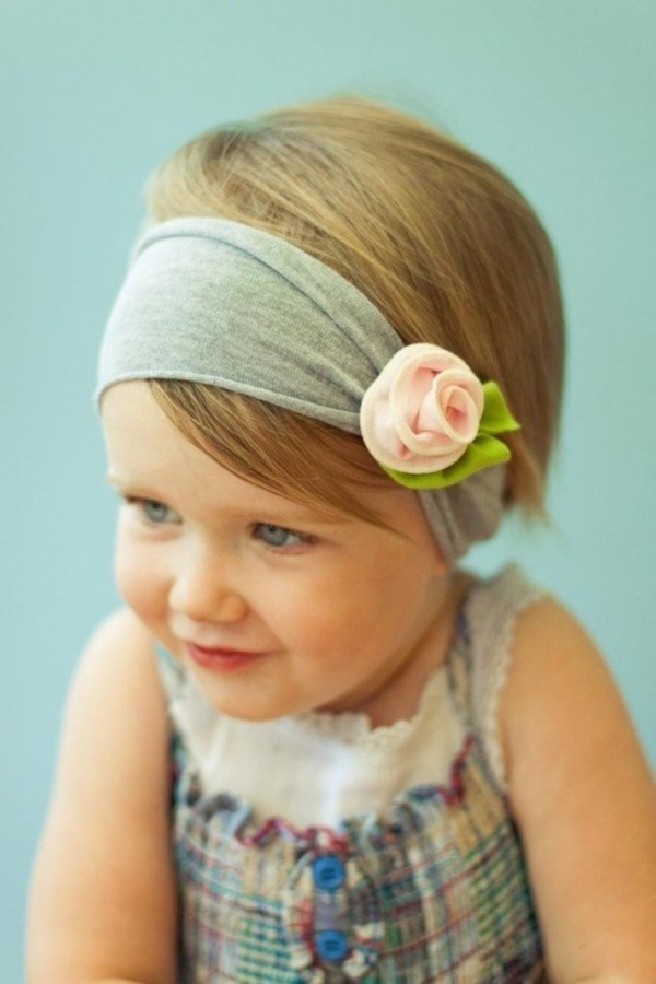 Baby-headband-baby-flower-cotton- 50 Gorgeous Kids Hair Accessories and Hairstyles