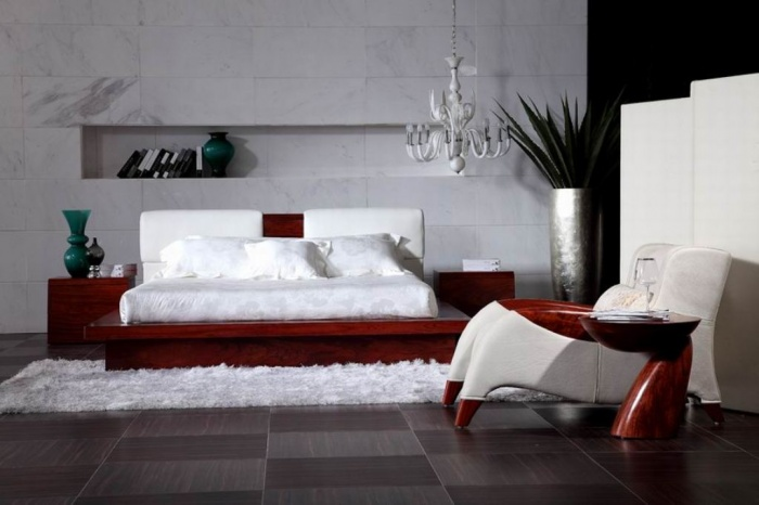 Bedroom-Leather-Bed-2013-Modern-Bed-Solid-Wood Fabulous and Breathtaking Bedroom Designs