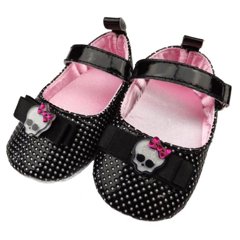 Black-Shoes-Skulls TOP 10 Stylish Baby Girls Shoes Fashion
