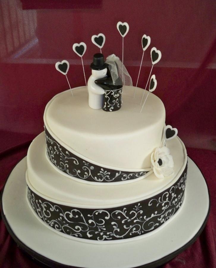 Black-and-White-Wedding-Cakes 50 Mouthwatering and Wonderful Wedding Cakes
