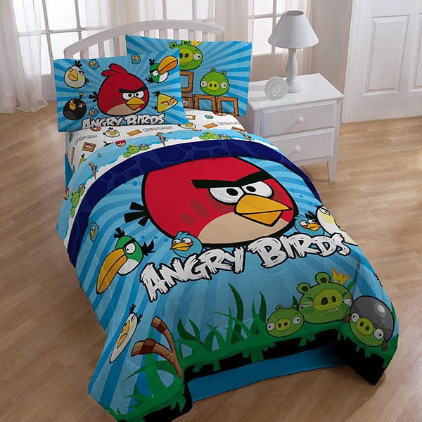 Boys-Room-Ideas-with-Angry-Birds-Bedding-Sets How To Find The Most Durable Bed Sheets For Kids?!