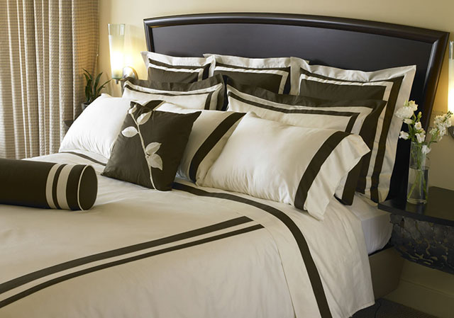 BrownCreamBed Modern Designs Of Luxurious Bed Sheets