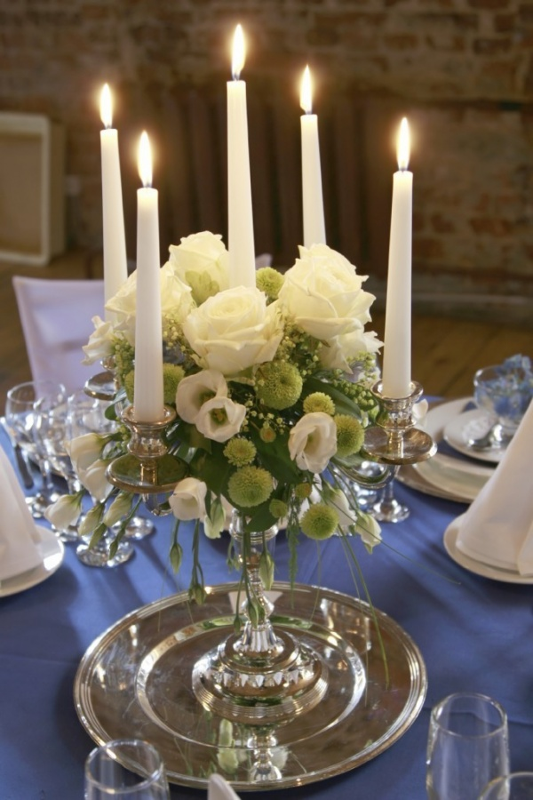 Candelabra 50 Fabulous and Breathtaking Wedding Centerpieces