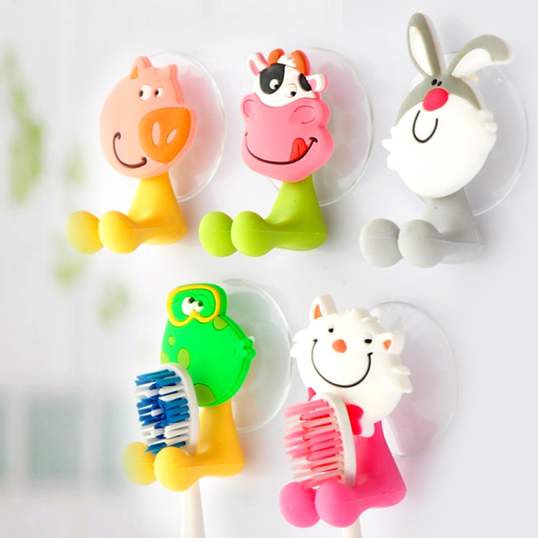 Cartoon-Animal-Strong-Suction-Cup-Wall-Suction-font-b-Toothbrush-b-font-font 10 Fabulous Kids Bathroom Accessories