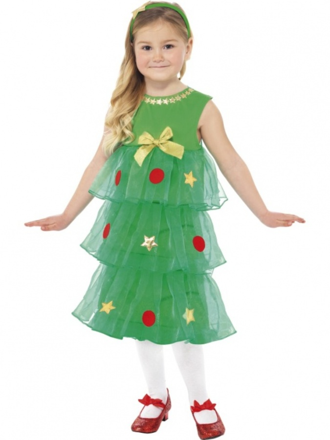 Childrens-christmas-tree-fancy-dress Most Stylish and Awesome Party Clothing for Girls