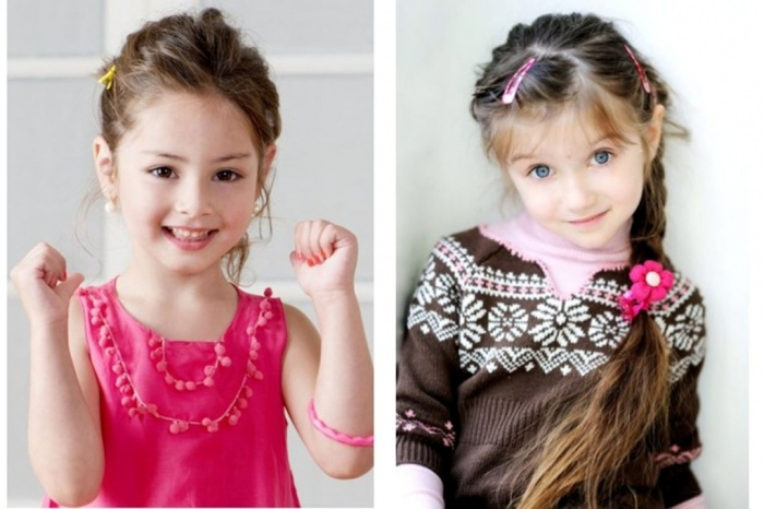 Cute-hairstyles-of-Children-Hair-as-Long-Hair-Ideas 50 Gorgeous Kids Hair Accessories and Hairstyles