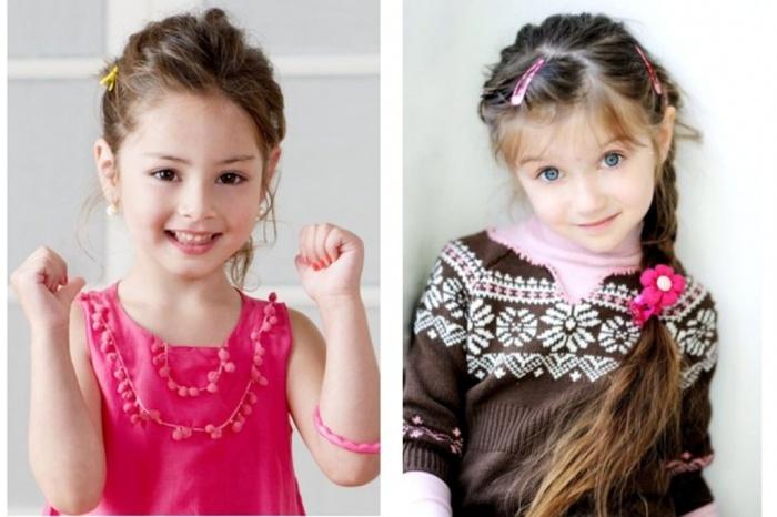 Cute-hairstyles-of-Children-Hair-as-Long-Hair-Ideas 50 Gorgeous Kids Hair Accessories and Hairstyles