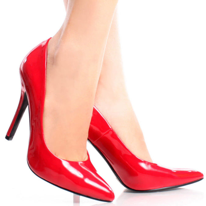 Date-H-Red-Patent-Womens-Designer Wearing High Heels Makes You Look Slimmer