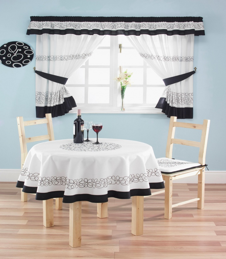 Deco-black-curtains Kitchen Window's Curtain For Privacy And Decoration