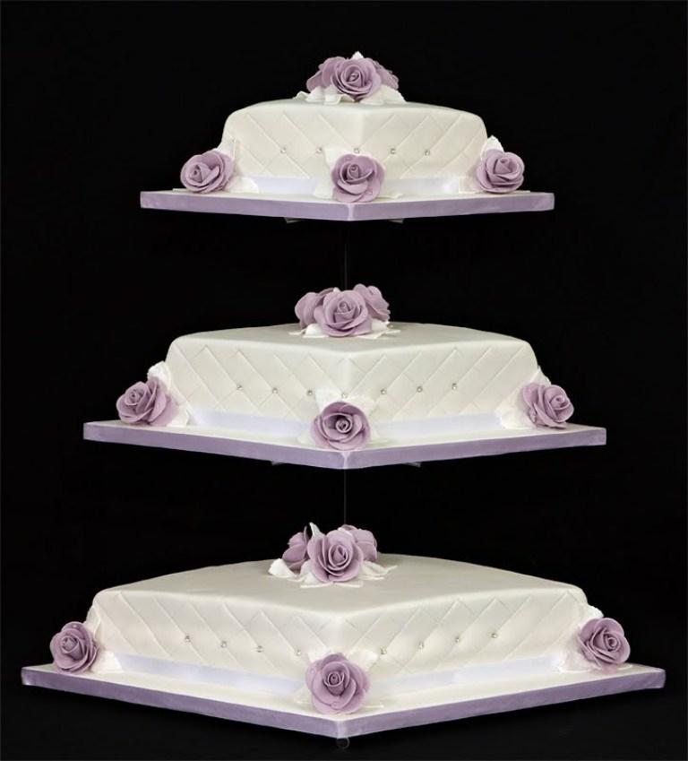 Diamond-Wedding-Cake-Stand 50 Mouthwatering and Wonderful Wedding Cakes