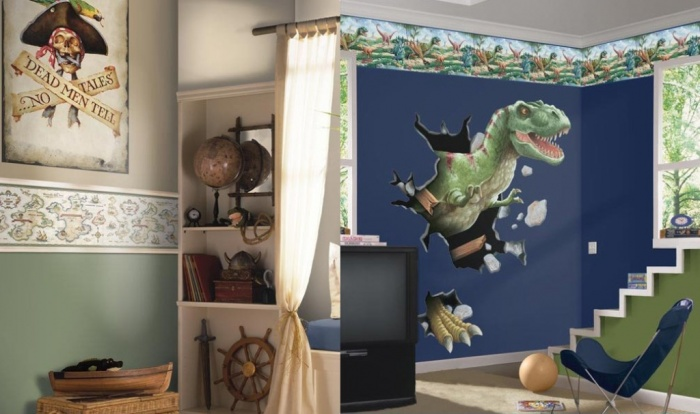 Dinosaurus-Themed-Bedroom Fascinating and Stunning Designs for Children's Bedroom