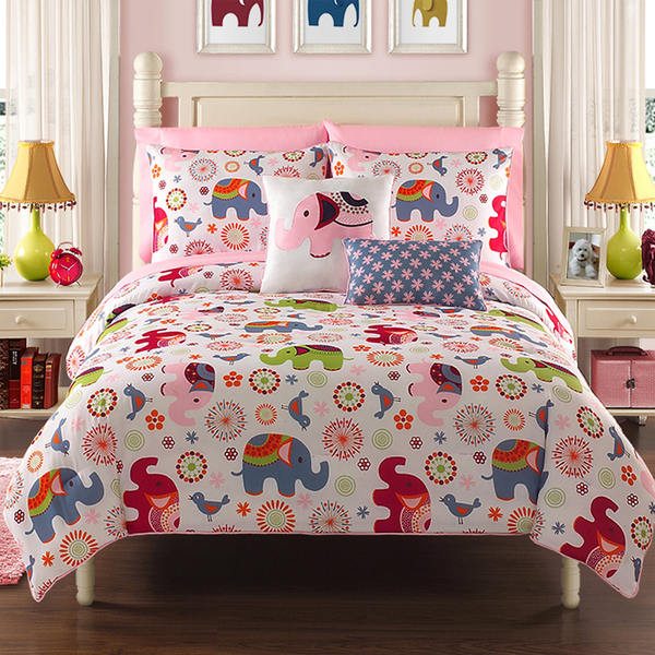 Elephant-Bedding-Sets-for-Girls-Room-Ideas How To Find The Most Durable Bed Sheets For Kids?!