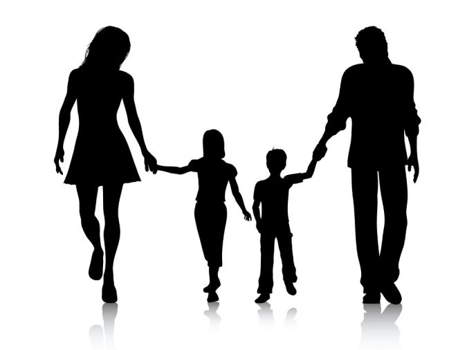 Family-clip-art To Whom Is the Custody of Children Ordered?