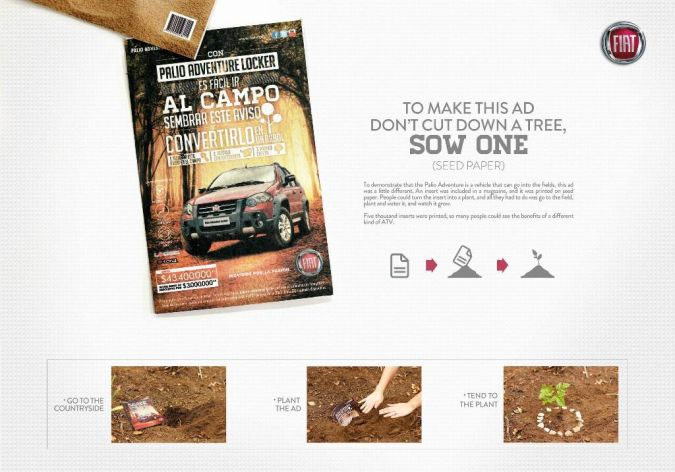 Fiat Top 10 Most Interactive Car Print Ads