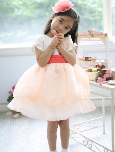 Free-Shipment-4-piece-lot-Girl-s-Pearl-Inlaid-font-b-Wedding-b-font-Style-Pink Fabulous Ceremonial Dresses For Kids