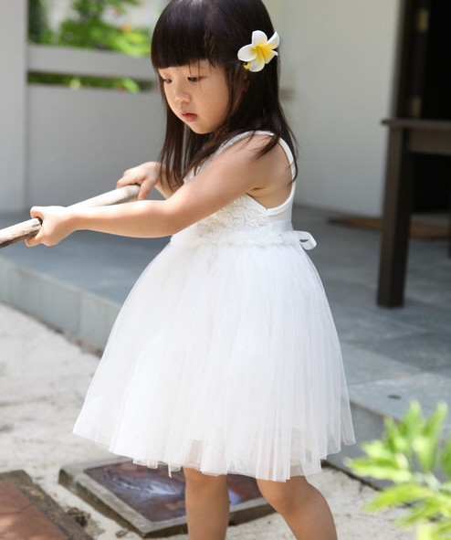 Free-Shipping-5-piece-lot-New-girl-s-l-Angel-White-Rose-flower-decorative-font-b Fabulous Ceremonial Dresses For Kids