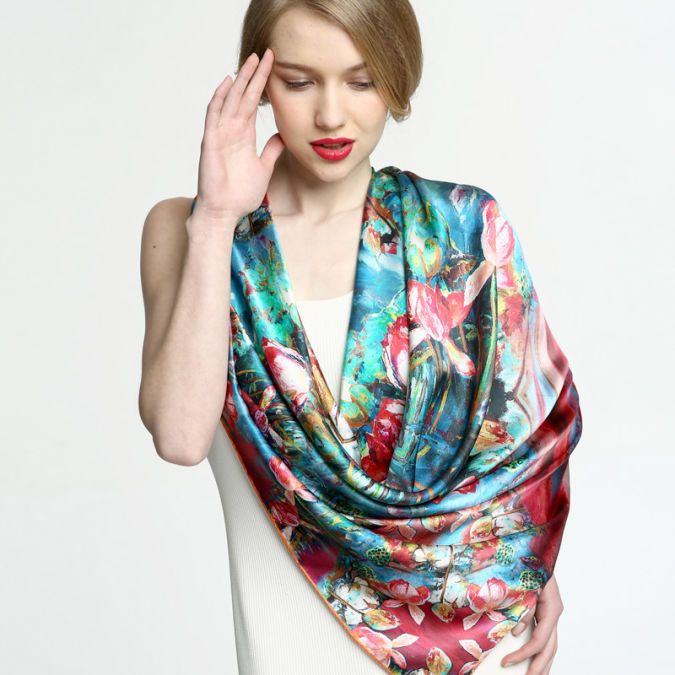 Gem-butterfly-silk-scarf-2013-spring-women-s-mulberry-silk-scarf-quality-gift-box-set A Scarf Can Make Your Face Looks Glowing