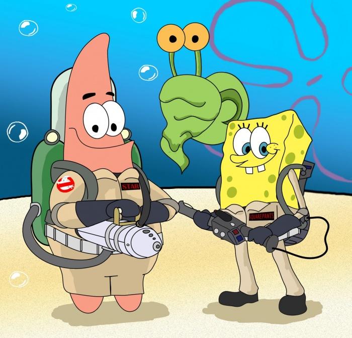 Ghostbuster-Squarepants SpongeBop SquarePants Animation