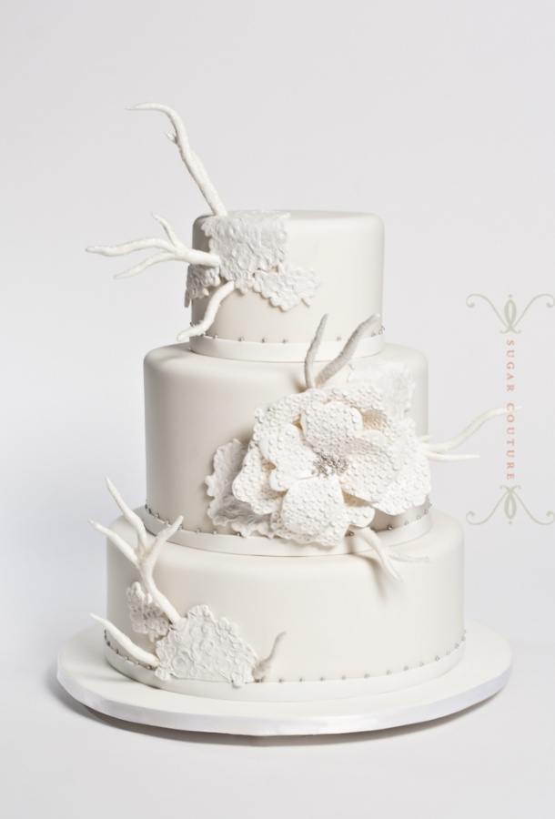 Gretchen-lace-blossom 50 Mouthwatering and Wonderful Wedding Cakes