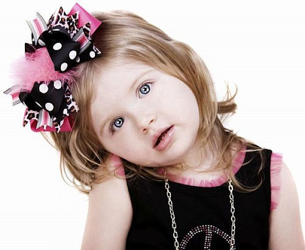 Hair-Bows-Flowers-Baby-Headbands Babies' Charming Hairstyles