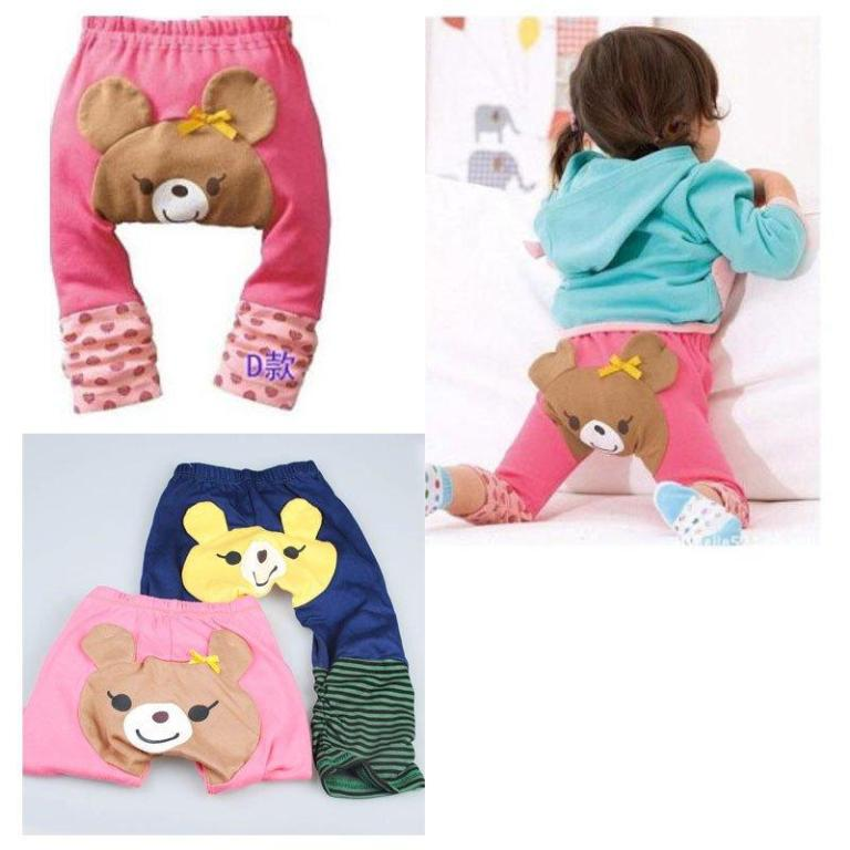 Infant-Baby-Girl-Toddler-Cute-Bear-Strawberry-Legging-PP-Pants-Cute-Pants 30 Cutest Baby Girl Pants