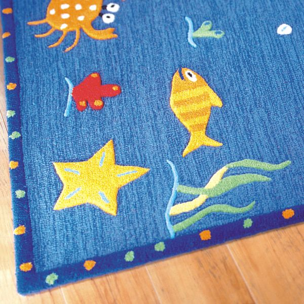 Kids-Ocean-Blue1 Kids' Rugs Are Not Just For Decoration, But An Educational Method